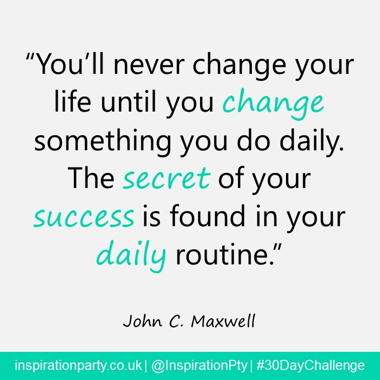 change daily routine