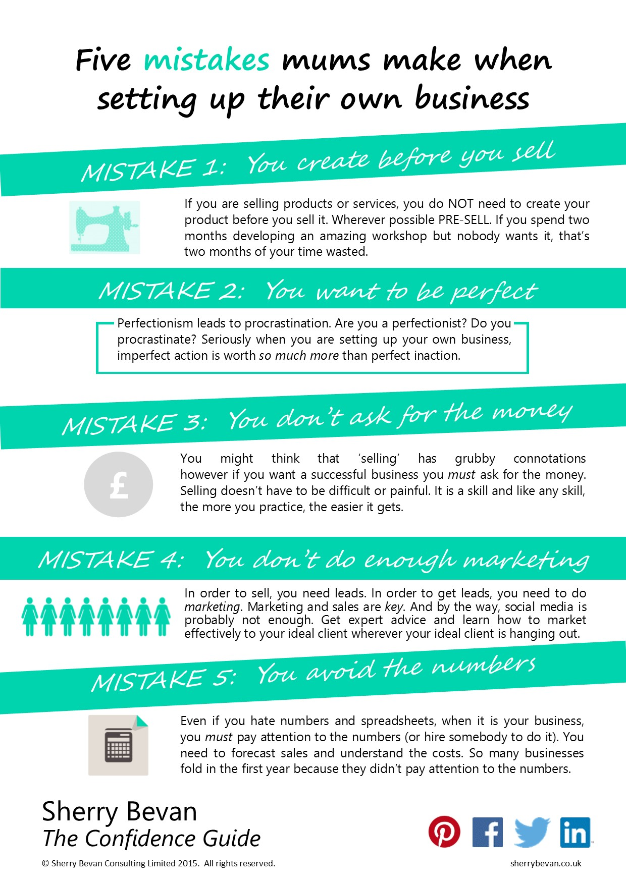 Top 5 mistakes mums make when setting up their own business INFOGRAPHIC