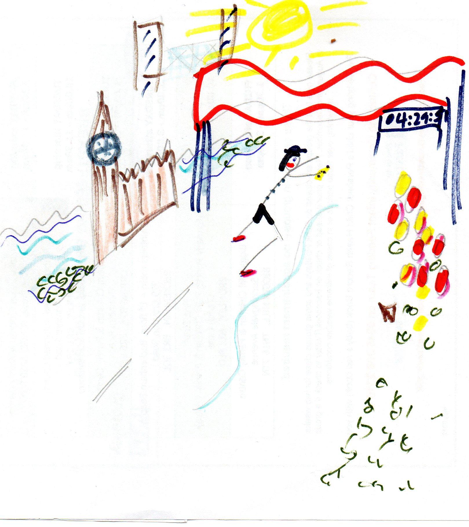 Finish line at the Virgin London marathon